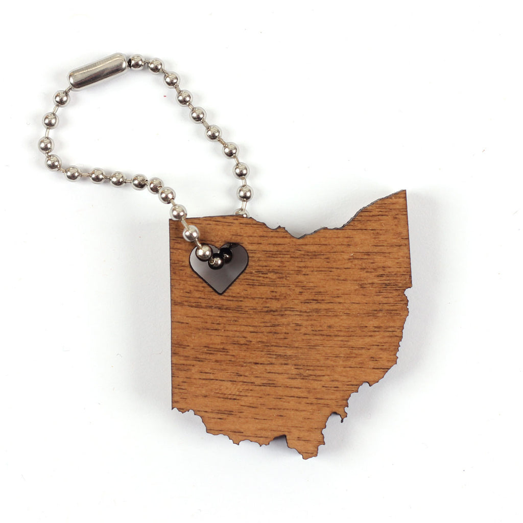Ohio Heart Key Chain - Clothe Ohio - Soft Ohio Shirts