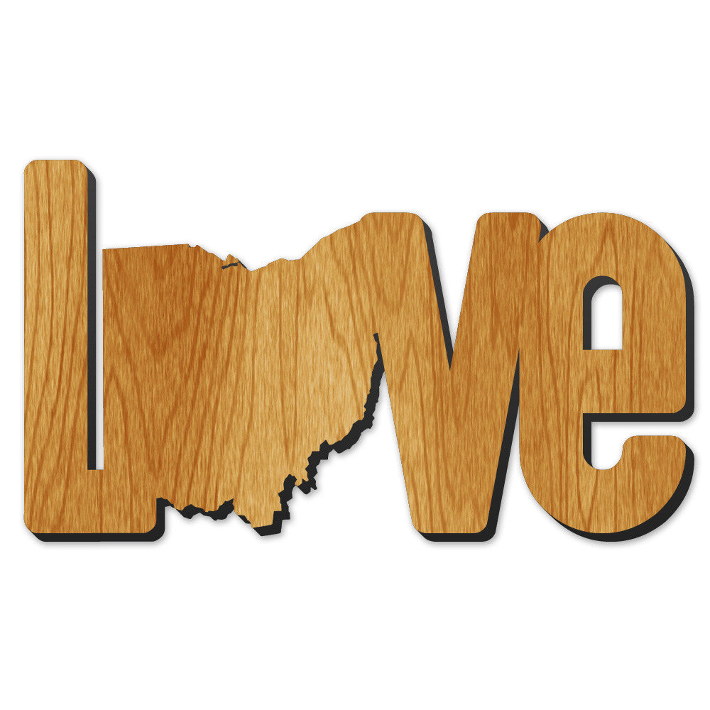 Love Ohio Wood Print - Clothe Ohio - Soft Ohio Shirts