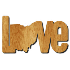 Love Ohio Wood Print
