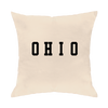 Ohio Varsity Throw Pillow - Clothe Ohio - Soft Ohio Shirts