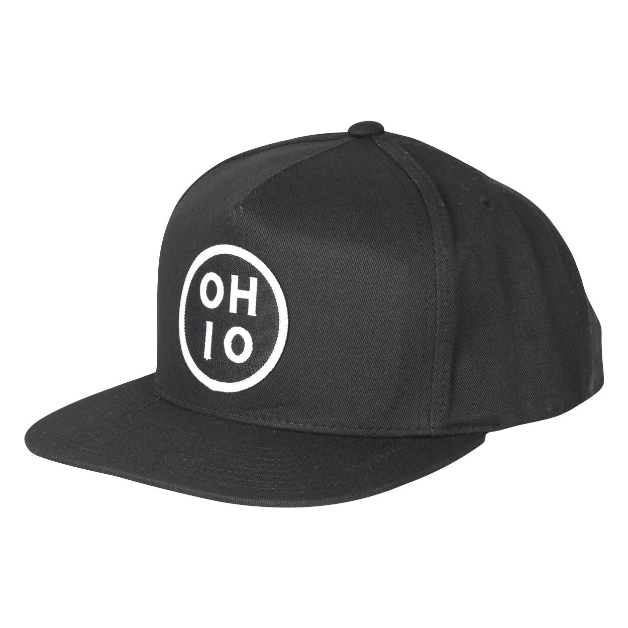 Circle Ohio Patch Snap Back Hat - Clothe Ohio - Soft Ohio Shirts