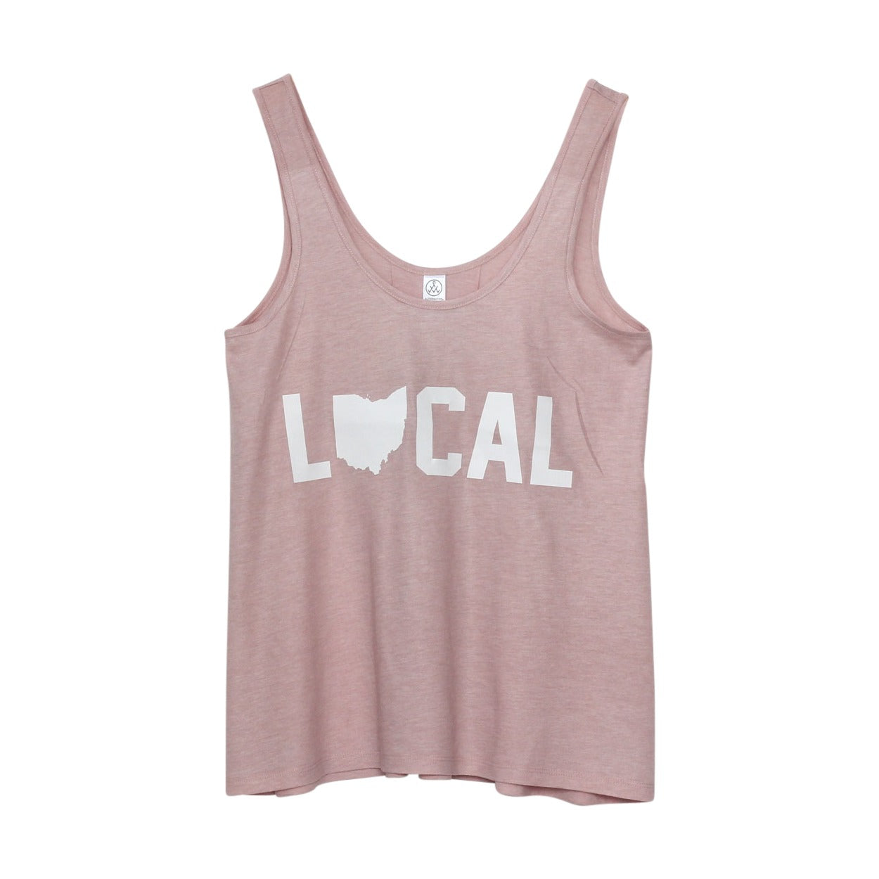 Local Ohio (White Ink) Women's Slouchy Tank Top - Clothe Ohio - Soft Ohio Shirts