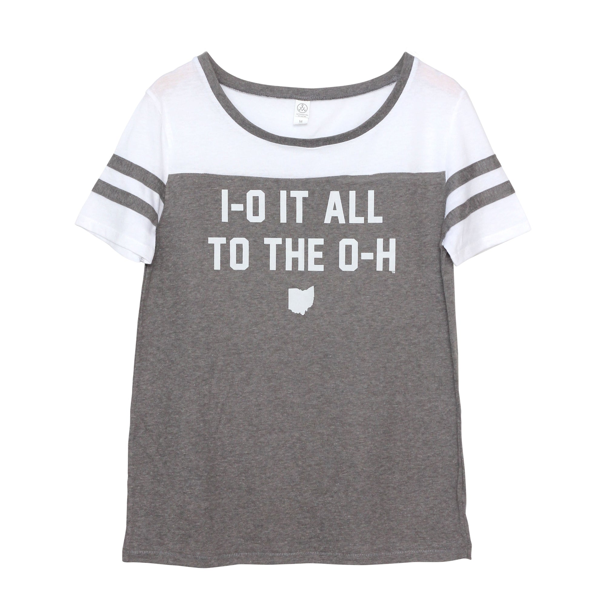 Io It All To The Oh Women's Jersey Stadium Tee - Clothe Ohio - Soft Ohio Shirts