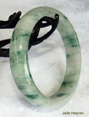 """Heavenly"" Old Mine Jadeite Jade Grade A Bangle Bracelets and Sizing Information"