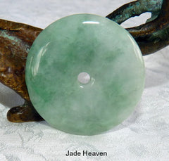 "Jadeite Jade ""Bi"" Pendants, Symbol of Heaven"