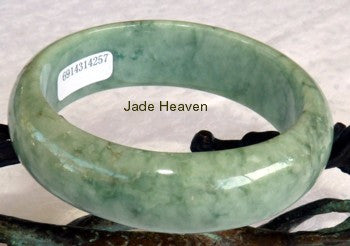 "All-Alround Good Green ""Cuff of Jade"" Bangle Bracelet 57mm + Certificate (257)"