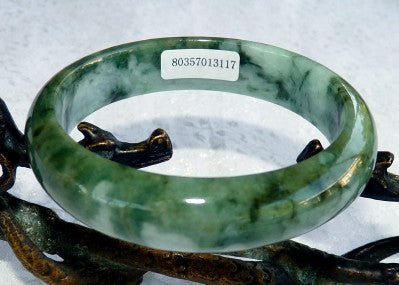 grade a green burmese jadeite bangle bracelet with certificate