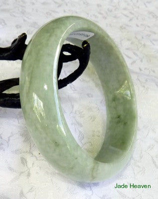 """Go with the Flow"" Veins Jadeite Jade Bangle Bracelet 57mm + Certificate (641)"