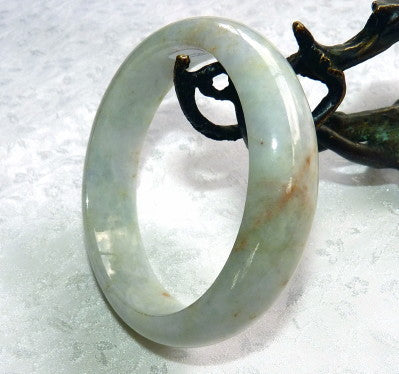 """Heal Your Heart"" Burmese Jadeite Jade Bangle Bracelet 56.5mm + Certificate  (711)"
