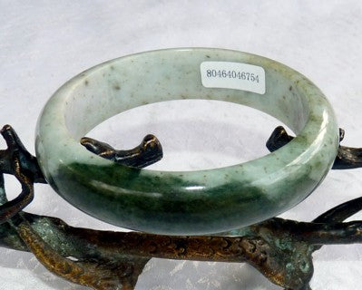 "Big ""Kiss of Green"" Burmese Jadeite Jade Bangle Bracelet 59mm+Certificate (754)"
