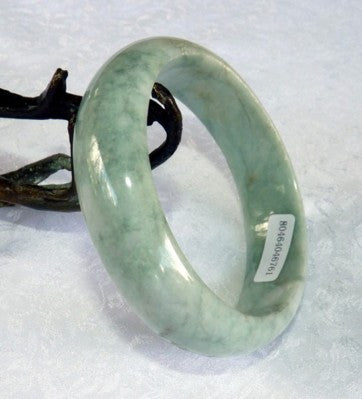 Varied Green Veins Jadeite Jade Bangle Bracelet 60mm + Certificate (761)