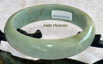 Endlessly Interesting Varied Green Veins Jadeite Jade Bangle A Grade 57mm + Certificate (783)