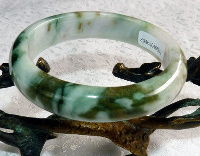 "Super Sale-""Powerful Woman"" Burmese Jadeite Bangle Bracelet 58 mm Grade A with Certificate (801)"
