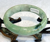"""Precious Earth"" Burmese Jadeite Grade A Bangle Bracelet 55.5mm + Certificate (8559)"