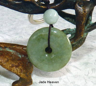"""Bi"" Symbol of Heaven Burmese Jadeite Key Chain / Pendant (BI-KEY)"