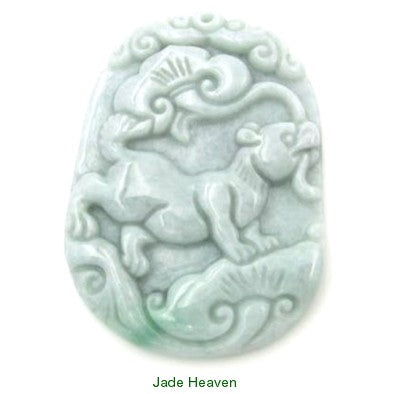 """Friendly Faithful Dog"" Burmese Jadeite Jade Pendant (JHP-DOG)"