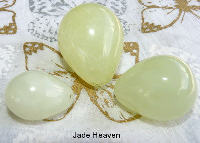 "Women's Wellness Sale - Set Three Jade ""Yoni"" Eggs for Women - Not Drilled with Hole"