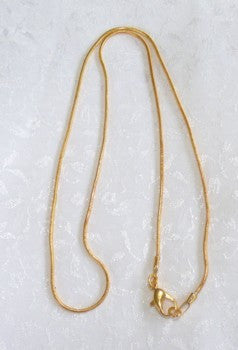 "18"" Gold Chain for Jade Pendants with Metal Bails"