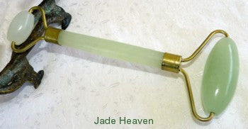 Chinese Jade Double Roller for Face, Head, Body Qi / Chi Energy -Classic Traditional Style