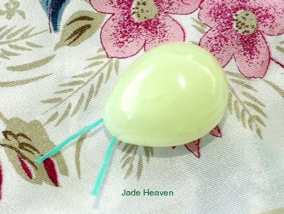 "Womens Wellness Sale - Jade Egg for Women ""Yoni"" Pelvic Health Kegel Exercise Medium Size, Drilled with Hole"