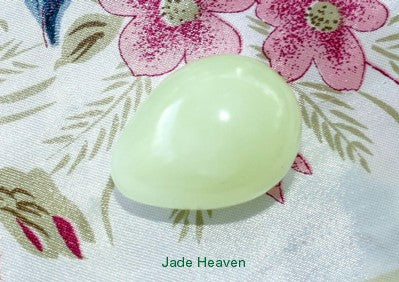 "Womens Wellness Sale - Jade ""Yoni"" Egg for Women Kegel Exercise Medium Size-Not Drilled with Hole"