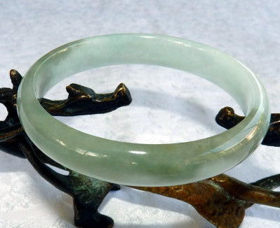 """Vintage ""Old Mine"" Jadeite A Grade Bangle Bracelet 64mm (JHBB251)"