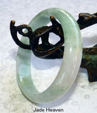 "Super Sale-Vintage Old Mine Lao Pit ""Jade Sister"" Jadeite Small Bangle Bracelet Grade A 54.5mm (JHBB261)"