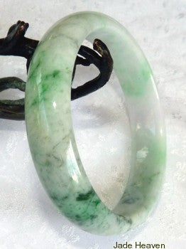 Vintage Imperial Green Veins Grade A Jadeite Jade Bangle Bracelet 57.5mm (JHBB277)