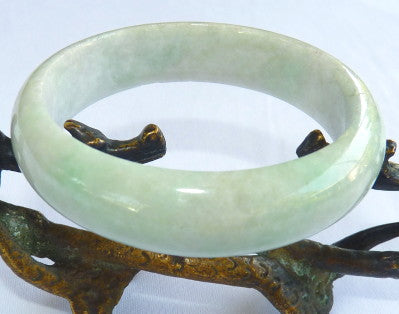"Super Sale-""Soothing and Calming"" Burmese Jadeite Old Mine Bangle Bracelet 57.5mm (JHBB-3292)"