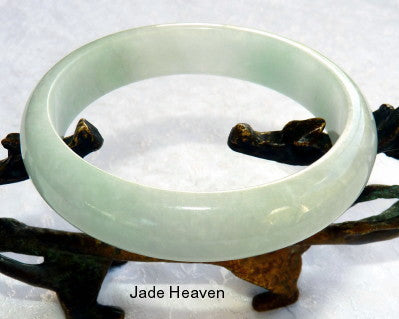 """Calm Your Spirit"" Burmese Jadeite ""Old Mine"" Bangle Bracelet 57.5 mm (JHBB-3302)"