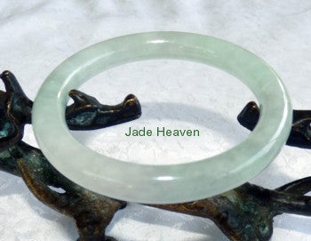 """Glowing"" Small Classic Round Old Mine Lao Pit Burmese Jadeite Jade Bangle Bracelet 53.5mm (JHBB551)"