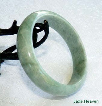 """Earthy Green"" Old Mine Lao Pit Jadeite Jade Bangle Bracelet 58.5mm (JHBB562)"