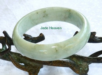 "Super Sale-""Peppery"" Veins Old Mine Jadeite Jade Bangle Bracelet 57.5mm (JHBB565)"