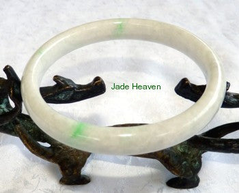 Rare Imperial Green Vein Old Mine Lao Pit Jadeite Jade Bangle Bracelet 64.5mm (JHBB572)