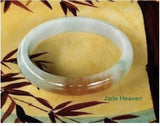 """Hong"" Honey Precious Old Mine Lao Pit Genuine Jadeite Bangle Bracelet 53.5mm (JHBB577)"