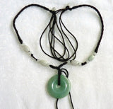 """Bi"" Symbol of Heaven Burmese Jadeite Pendant Necklace (JHBI-512)"