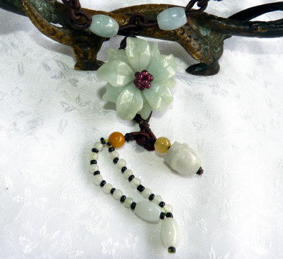 """Heavenly Flower"" Burmese Jadeite Necklace (JHNECK57)"