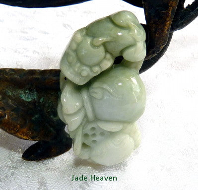 """Crab Brings Harmony and Peace"" Burmese Jadeite Pendant (JHP175)"