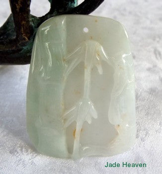 "Tradition and Longevity"" Jadeite Bamboo Pendant (JHP101)"