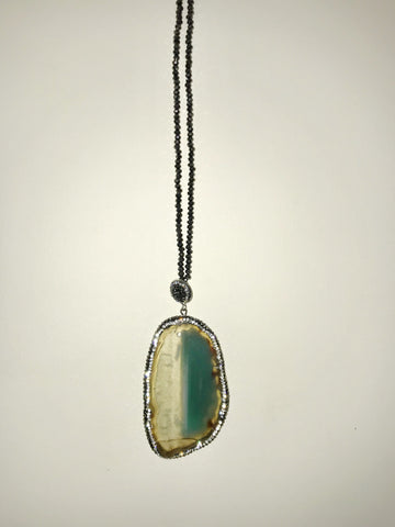 Natural Stone Green Necklace