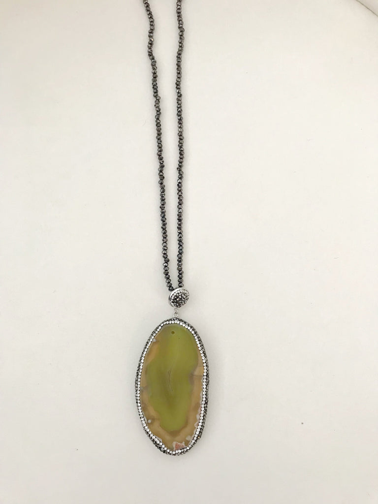 Natural Stone Yellow Necklace