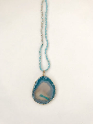 Natural Stone Blue Necklace