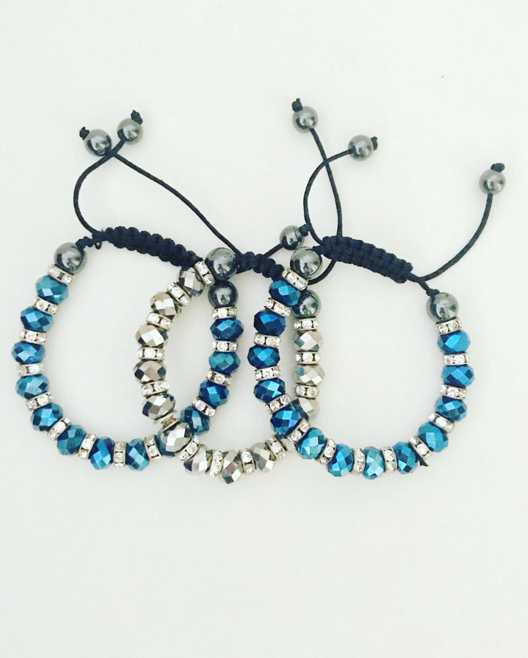 Little Blue Beads Bracelet