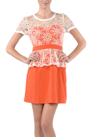 White Lace On Orange