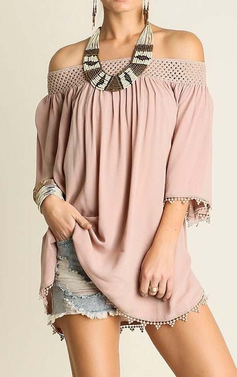 Cream Off The Shoulder Blouse