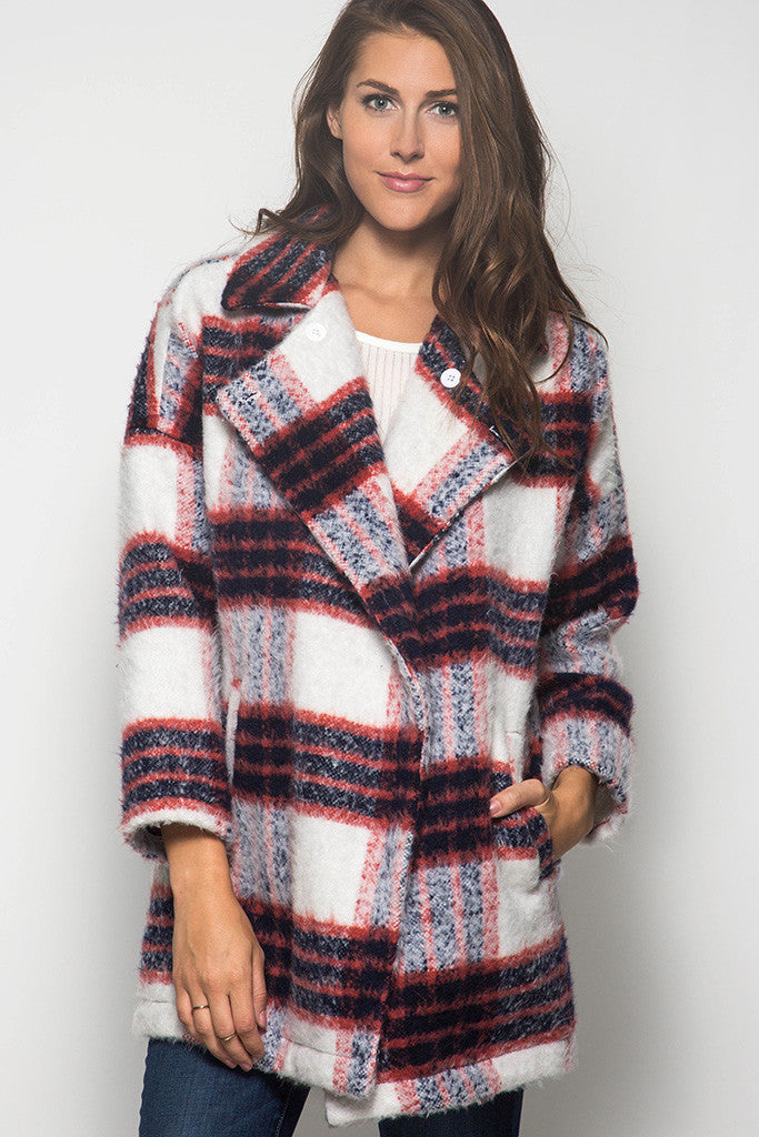Plaid Button Up, Not Your Average Coat