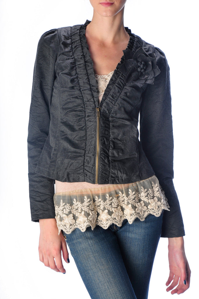 Vegan Dark Gray Jacket