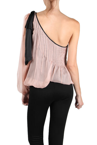 One Shoulder Blush Blouse