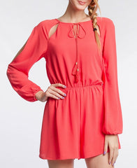 Wear Any Where Coral Romper