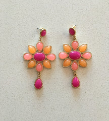 Stone Drop Earrings, Available in 2 Colors